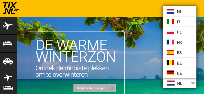 case tix website vertalen
